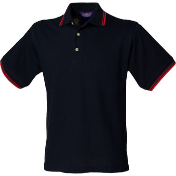 Textiel Heren Polo's korte mouwen Henbury HB150 Marine Rood Kiepen