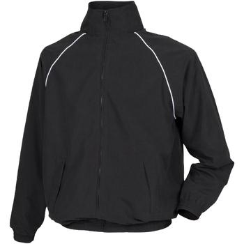 Textiel Kinderen Wind jackets Tombo Teamsport TL409 Zwart/witte leidingen
