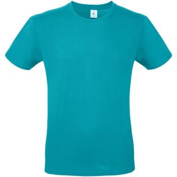 Textiel Heren T-shirts korte mouwen B And C TU01T Echt Turquoise