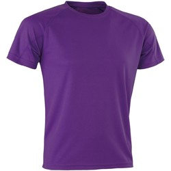 Textiel T-shirts korte mouwen Spiro Aircool Paars