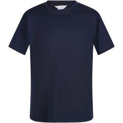 Textiel Kinderen T-shirts korte mouwen Regatta  Marine