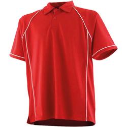Textiel Kinderen Polo's korte mouwen Finden & Hales LV372 Rood/Wit