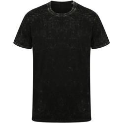 Textiel T-shirts korte mouwen Skinni Fit SF203 Gewassen Zwart