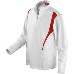 Textiel Dames Trainings jassen Spiro S178X Wit/Rood/Wit
