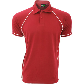 Textiel Heren Polo's korte mouwen Finden & Hales Piped Rood/Wit