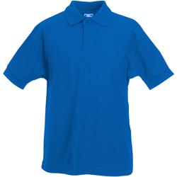 Textiel Jongens Polo's korte mouwen Fruit Of The Loom 63417 Royaal Blauw