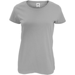 Textiel Dames T-shirts korte mouwen Fruit Of The Loom 61420 Heather Grijs