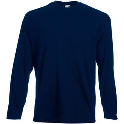 Textiel Heren T-shirts met lange mouwen Universal Textiles 61038 Middernacht blauw