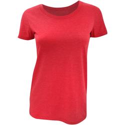 Textiel Dames T-shirts korte mouwen Bella + Canvas BE8413 Rood Triblend