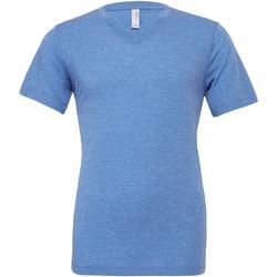 Textiel Heren T-shirts korte mouwen Bella + Canvas CA3415 Blauwe Triblend