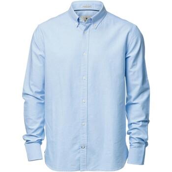 Textiel Heren Overhemden lange mouwen Nimbus NB45M Lichtblauw