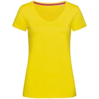Textiel Dames T-shirts korte mouwen Stedman Stars Megan Daisy Geel