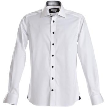 Textiel Heren Overhemden lange mouwen J Harvest & Frost Red Bow Witte/scheepvaart