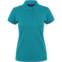 Textiel Dames Polo's korte mouwen Henbury Coolplus Heldere Jade