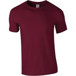 Textiel Heren T-shirts korte mouwen Gildan GD01 Marron