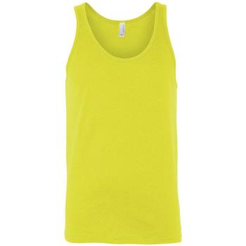 Textiel Dames Mouwloze tops Bella + Canvas CA3480 Neon geel
