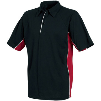 Textiel Heren Polo's korte mouwen Tombo Teamsport TL065 Zwart/rood/witte leidingen