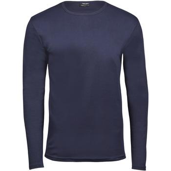 Textiel Heren T-shirts met lange mouwen Tee Jays TJ530 Marineblauw