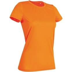 Textiel Dames T-shirts korte mouwen Stedman  Cyber Oranje