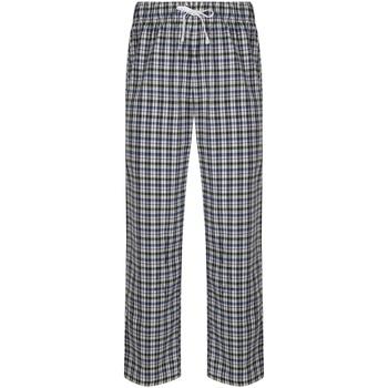 Textiel Heren Pyjama's / nachthemden Skinni Fit SFM83 Wit/meervoudige controle