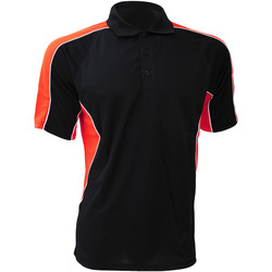 Textiel Heren Overhemden korte mouwen Gamegear KK938 Zwart/Rood