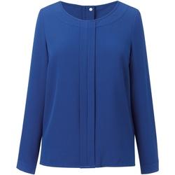 Textiel Dames Tops / Blousjes Brook Taverner BR121 Koningsblauw