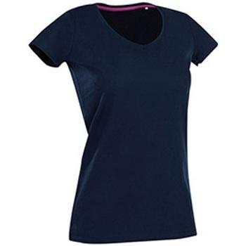 Textiel Dames T-shirts korte mouwen Stedman Stars Claire Jachthaven Blauw