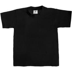 Textiel Kinderen T-shirts korte mouwen B And C TK301 Zwart