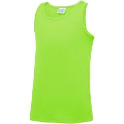 Textiel Kinderen Mouwloze tops Awdis JC07J Elektrisch Groen