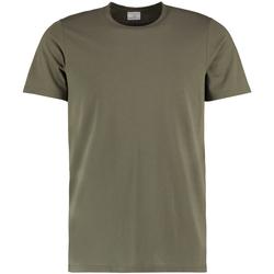 Textiel Heren T-shirts korte mouwen Kustom Kit KK504 Khaki