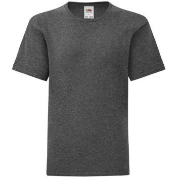 Textiel Jongens T-shirts korte mouwen Fruit Of The Loom 61023 Donker Heather