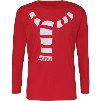 Textiel Heren T-shirts met lange mouwen Christmas Shop CJ205 Rood