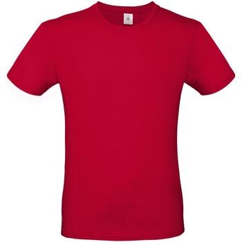 Textiel Heren T-shirts korte mouwen B And C TU01T Diep rood
