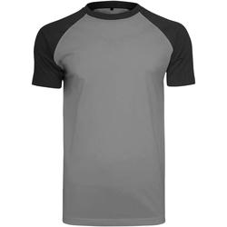 Textiel Heren T-shirts korte mouwen Build Your Brand BY007 Houtskool/zwart