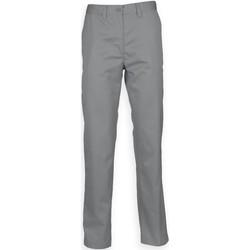 Textiel Heren Chino's Henbury HB640 Staalgrijs