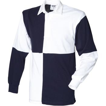 Textiel Heren Polo's lange mouwen Front Row FR02M Wit/Zwaar (Witte kraag)
