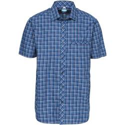 Textiel Heren Overhemden korte mouwen Trespass Baffin Blauwe ruit