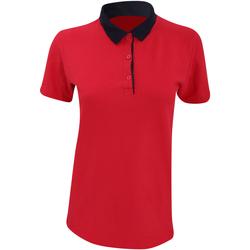 Textiel Dames Polo's korte mouwen Anvil 6280L Rood/ Navy