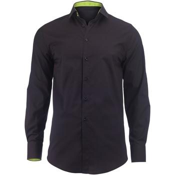 Textiel Heren Overhemden lange mouwen Alexandra Hospitality Zwart/Kalk