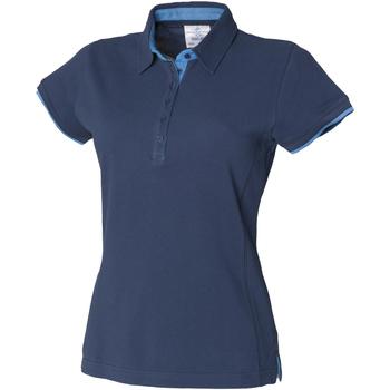 Textiel Dames Polo's korte mouwen Front Row FR201 Marine