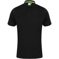 Textiel Heren Polo's korte mouwen Tombo TL565 Zwart/Zwart