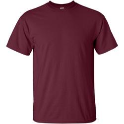 Textiel Heren T-shirts korte mouwen Gildan Ultra Marron