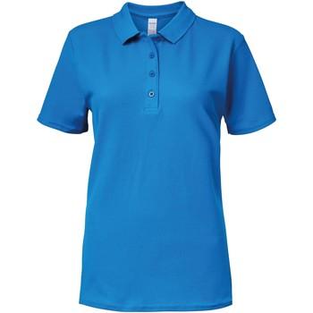 Textiel Dames Polo's korte mouwen Gildan 64800L Saffier