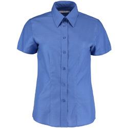 Textiel Dames Overhemden Kustom Kit KK360 Italiaans Blauw