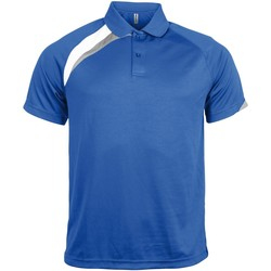 Textiel Heren Polo's korte mouwen Kariban Proact PA457 Koningsblauw/wit/stormgrijs