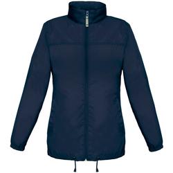 Textiel Dames Windjack B And C JW902 Marineblauw