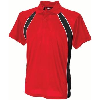 Textiel Heren Polo's korte mouwen Finden & Hales LV350 Rood/zwart/wit