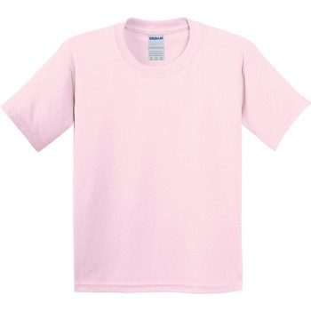 Textiel Kinderen T-shirts korte mouwen Gildan 64000B Lichtroze