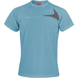 Textiel Heren T-shirts korte mouwen Spiro S182M Aqua/Grijs
