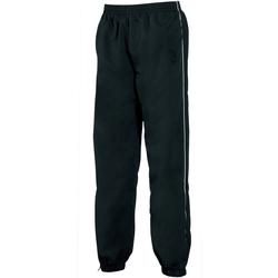 Textiel Heren Trainingsbroeken Tombo Teamsport TL049 Zwart/witte leidingen